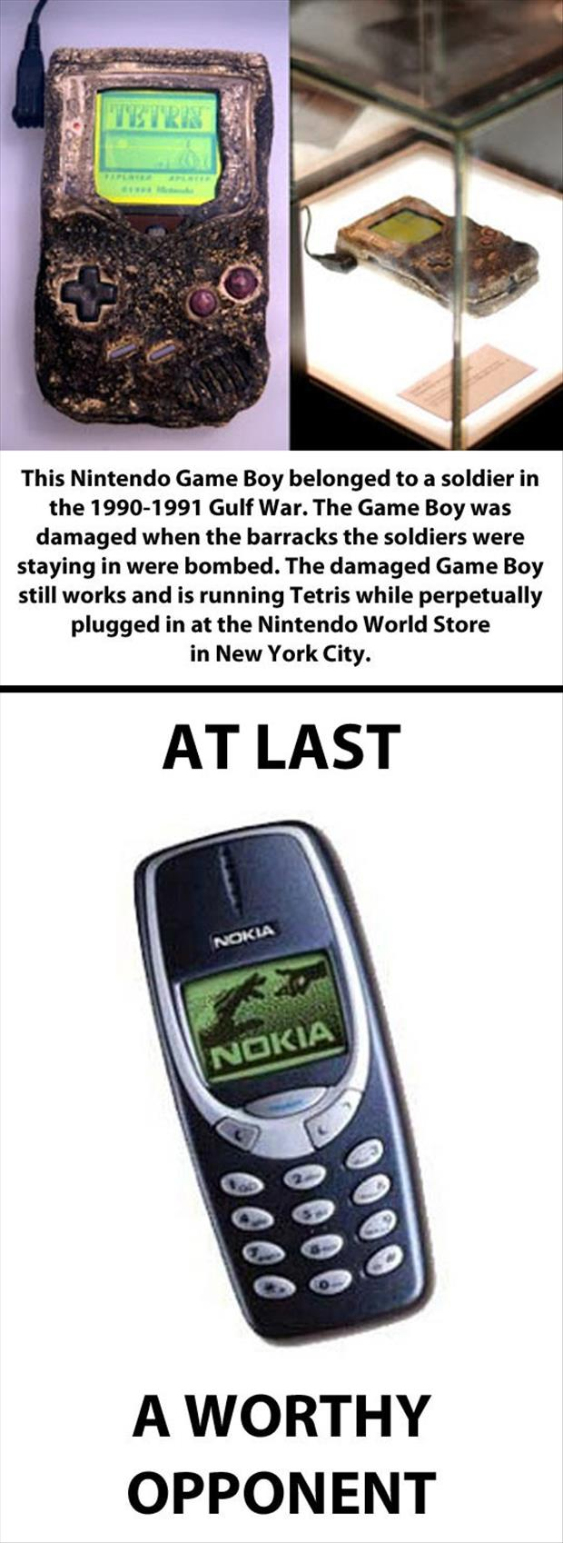 old gameboy survives blast