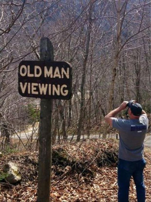 old man viewing
