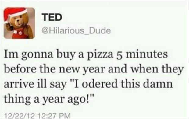 order pizza on new years eve