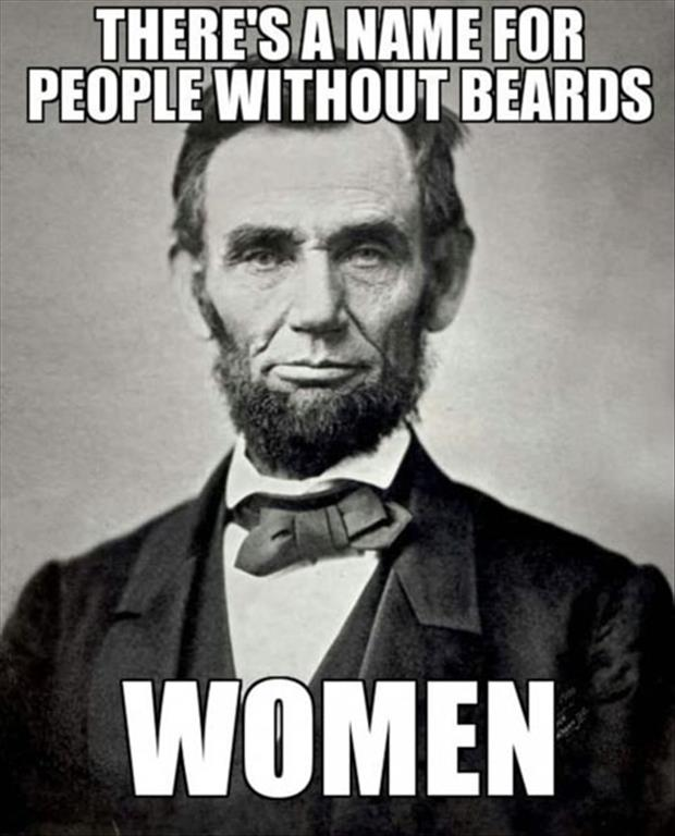 people without beards are women