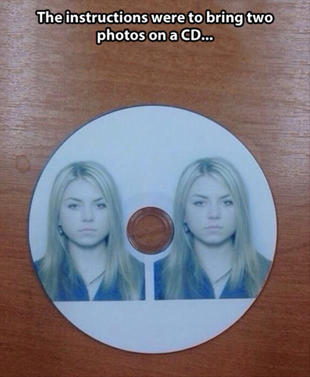 photos on a cd