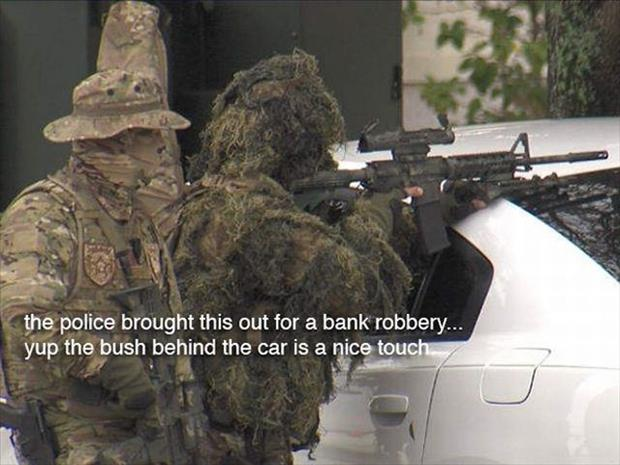 police and bank robbery
