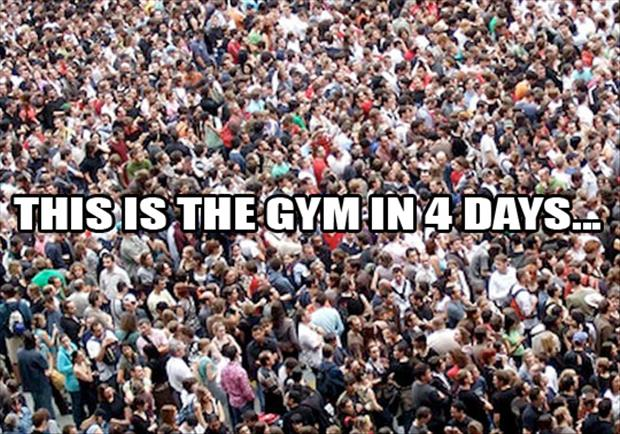 the gym two weeks from today