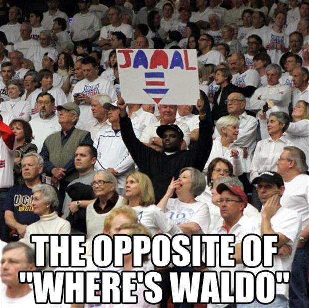 the opposite of where's waldo