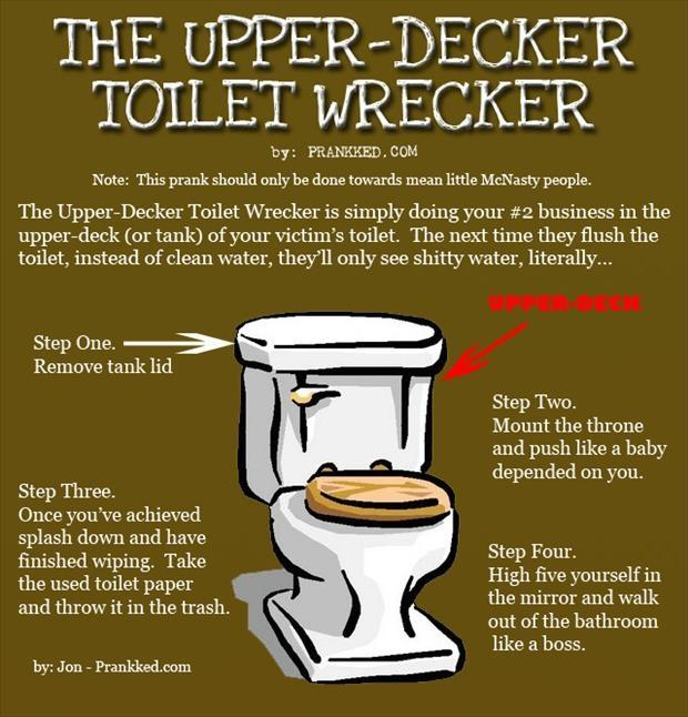 upper decker toilet wrecker