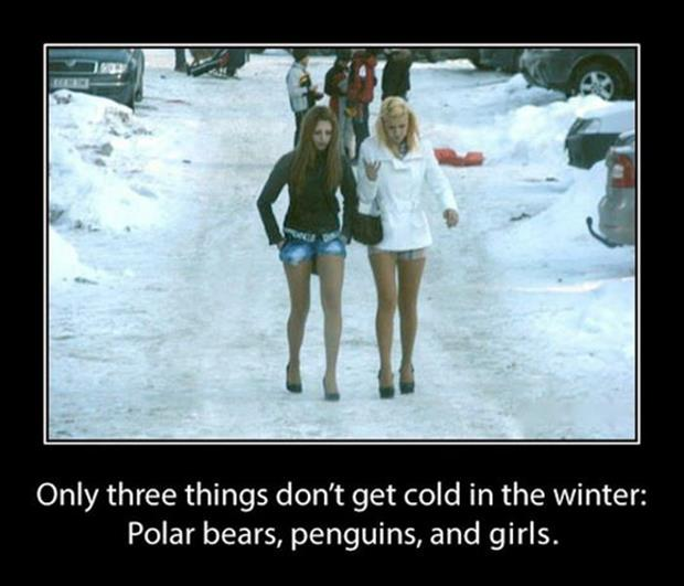 women don't get cold in the winter