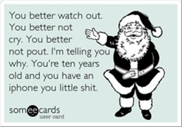 you better not pout you better not cry santa