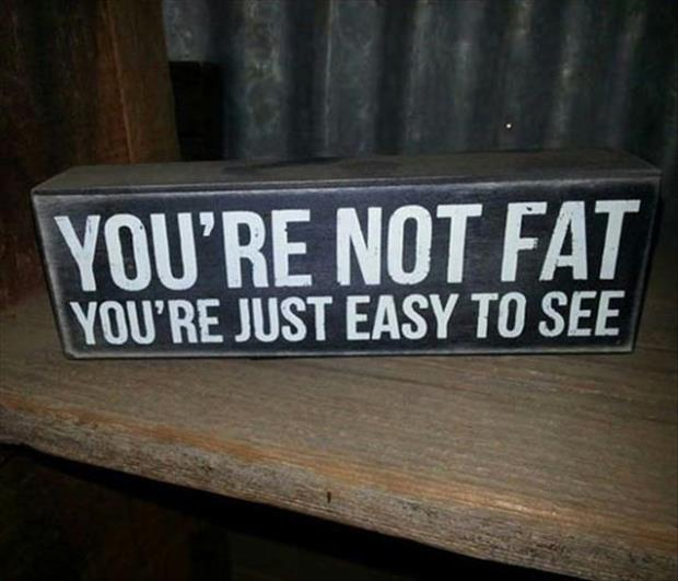 you're not fat