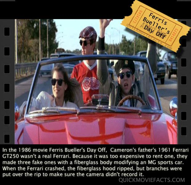 Ferris Bueller Movie Fact