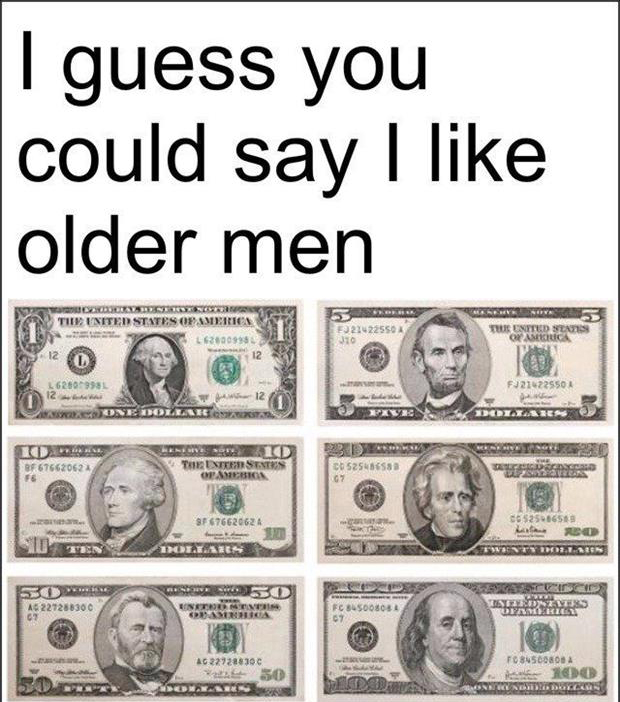 I like older men