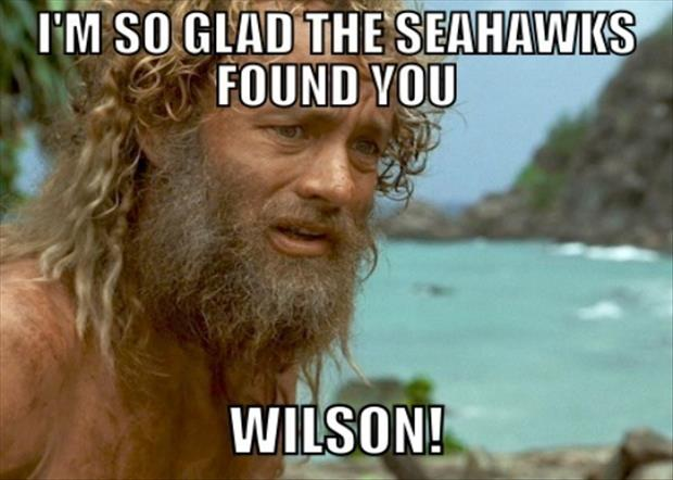 I'm so glad the seattle seahawks found you russel wilson
