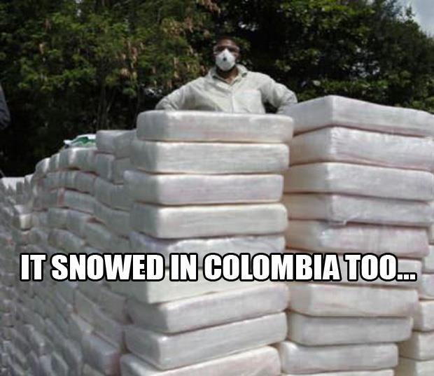 It snowed in Colombia too