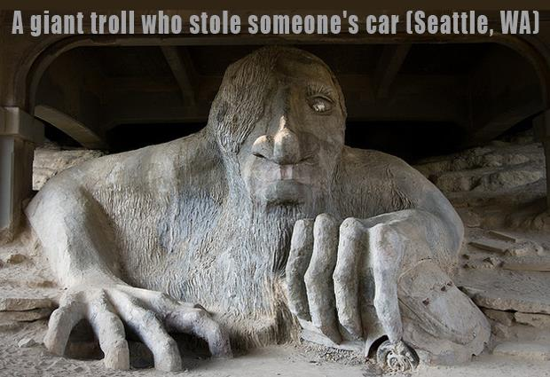 The Most Incredible Roadside Sights - Giant Troll