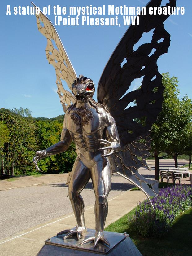 The Most Incredible Roadside Sights - Mothman Statue