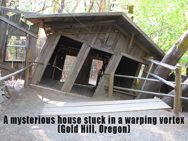 The Most Incredible Roadside Sights - Warping vortex house