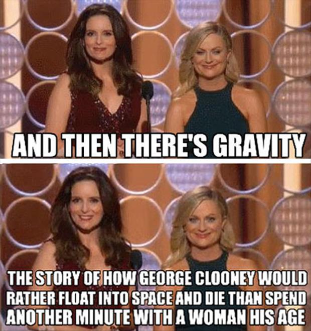 and gravity george clooney would rather die than spend another moment with a woman his age