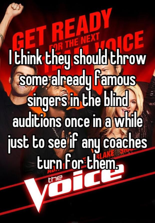 blind auditions the voice funny
