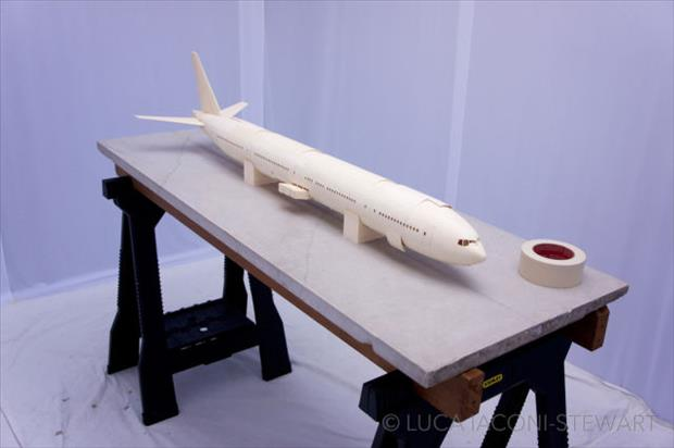 boeing airplane made to scale using just paper (43)