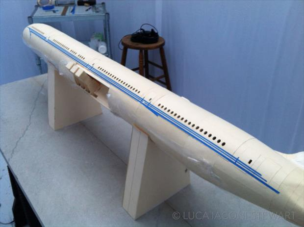 boeing airplane made to scale using just paper (45)