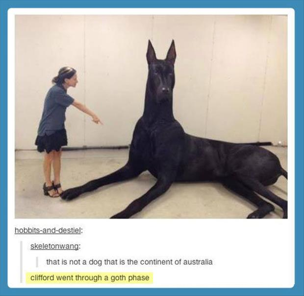 clifford the big red dog is black