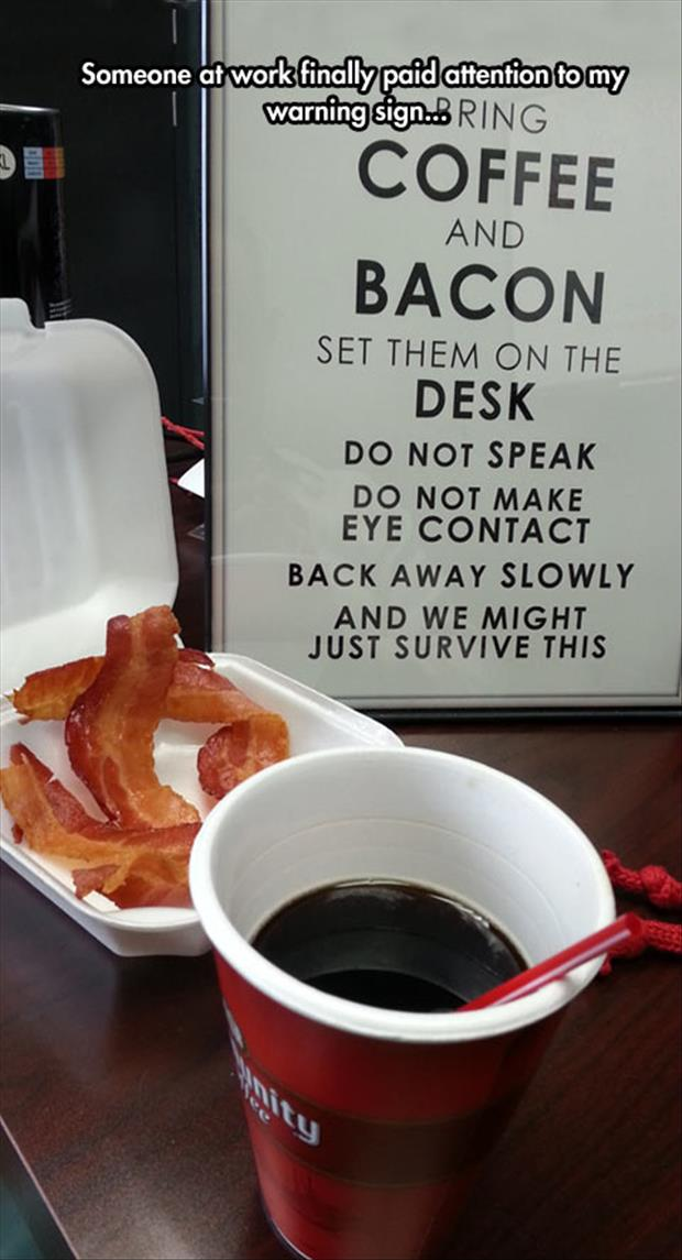 coffee and bacon