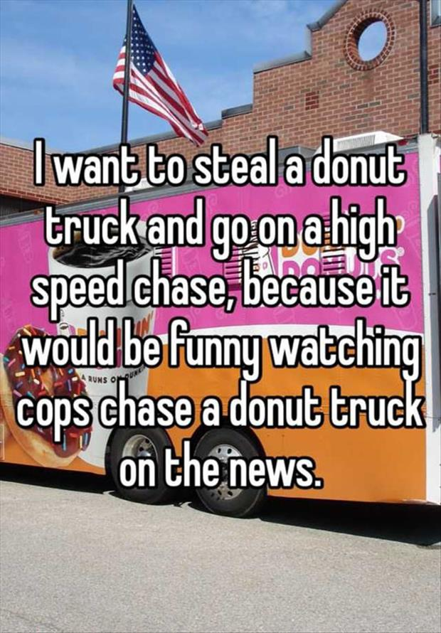 cops chasing a donut truck