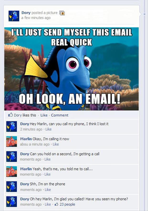 dory lost her phone