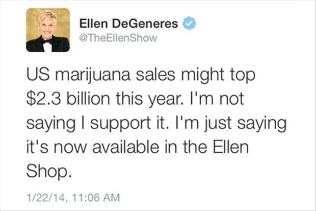 elen degeneres sells marijuana in her shop