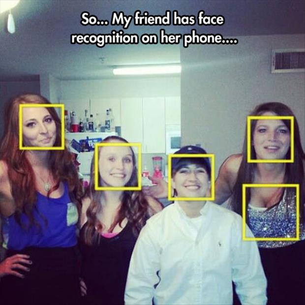 face reconition funny