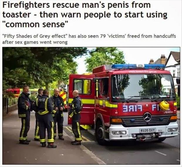 firefighter saves man's penis from toaster