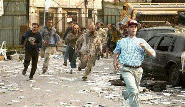 forrest gump runs from zombies