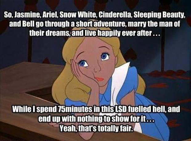 funny alice and wonderland