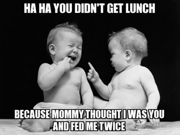 funny babies fighting