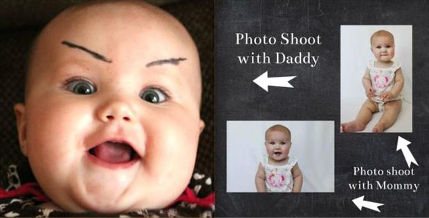 funny baby photo shoot