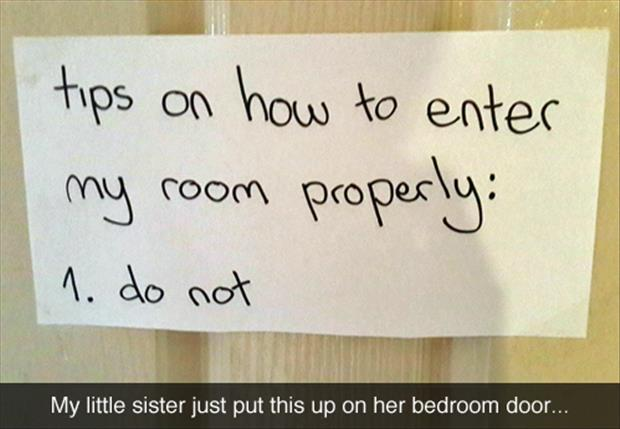 funny bedroom signs