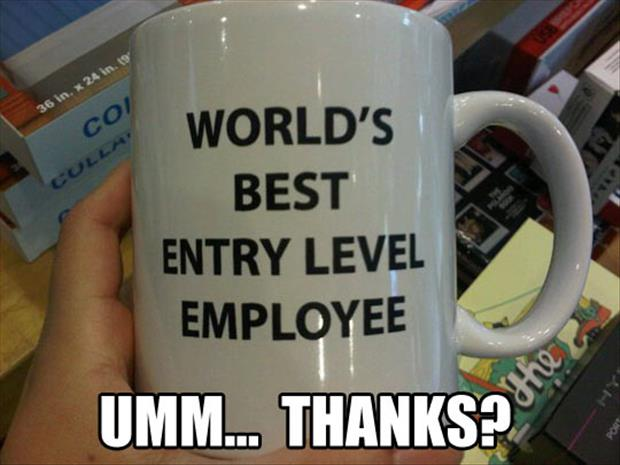 funny best employee coffee cups