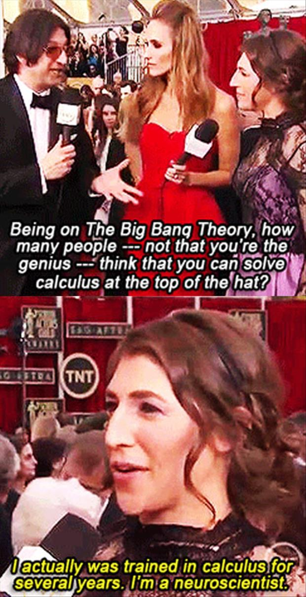 funny big bang theory cast members are smart in real life