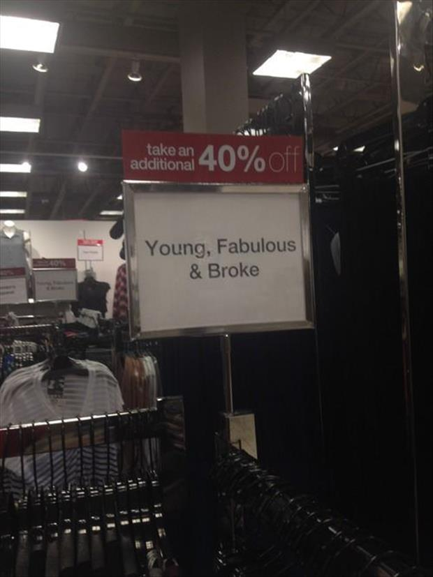 funny clearance signs