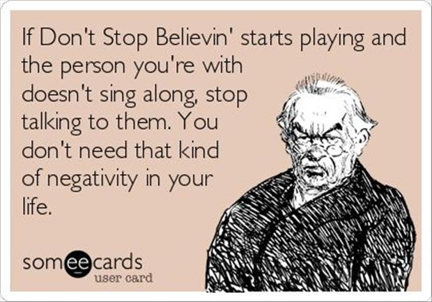 funny don't stop believing