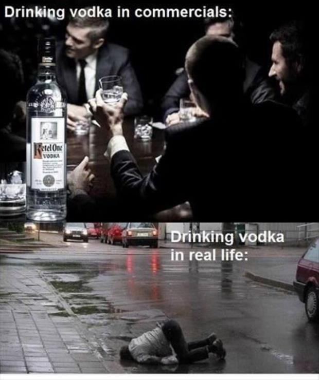 funny drinking vodka