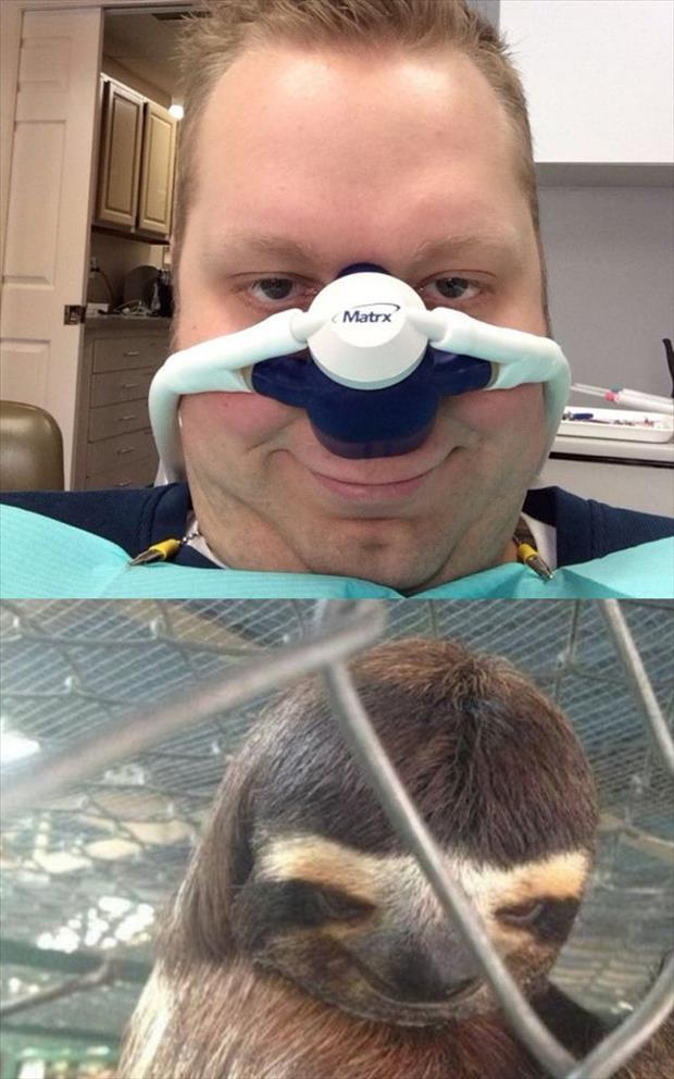 funny faces at the dentist