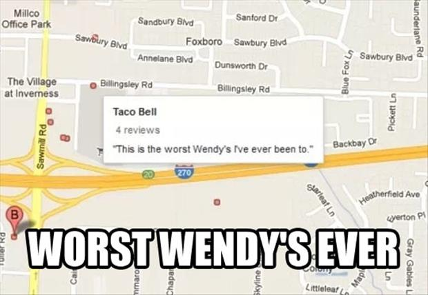 funny google map reviews
