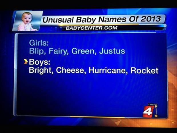 funny new baby names