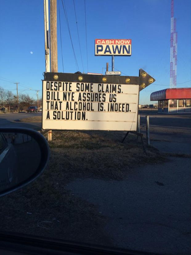 funny pawn shop signs