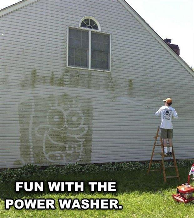 funny power washer