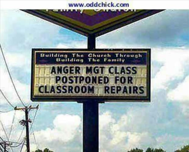 funny signs anger management