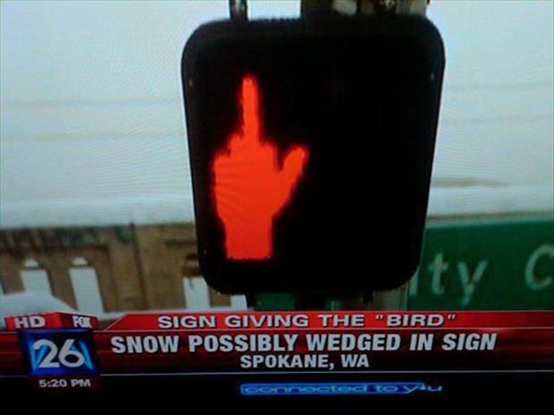 funny snow signs