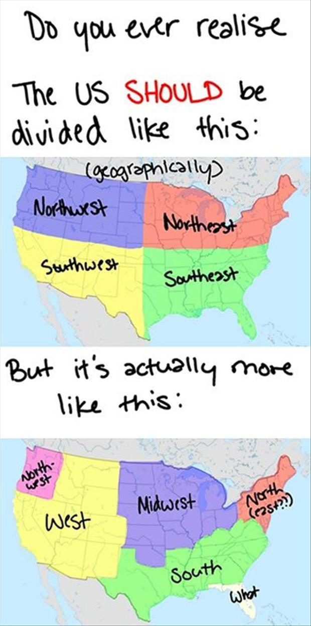 funny united states maps