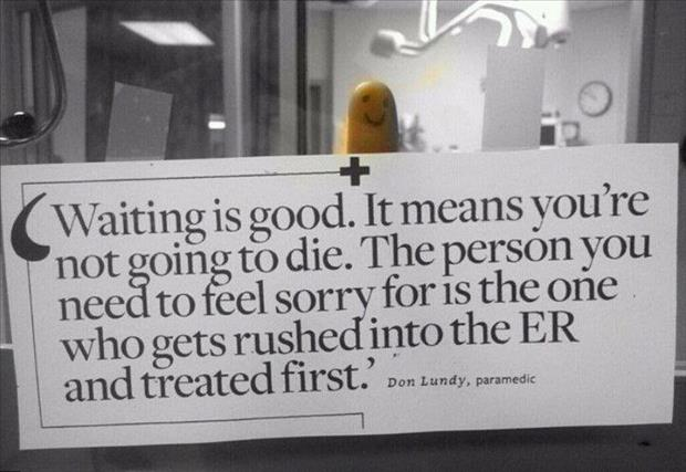 funny waiting room signs