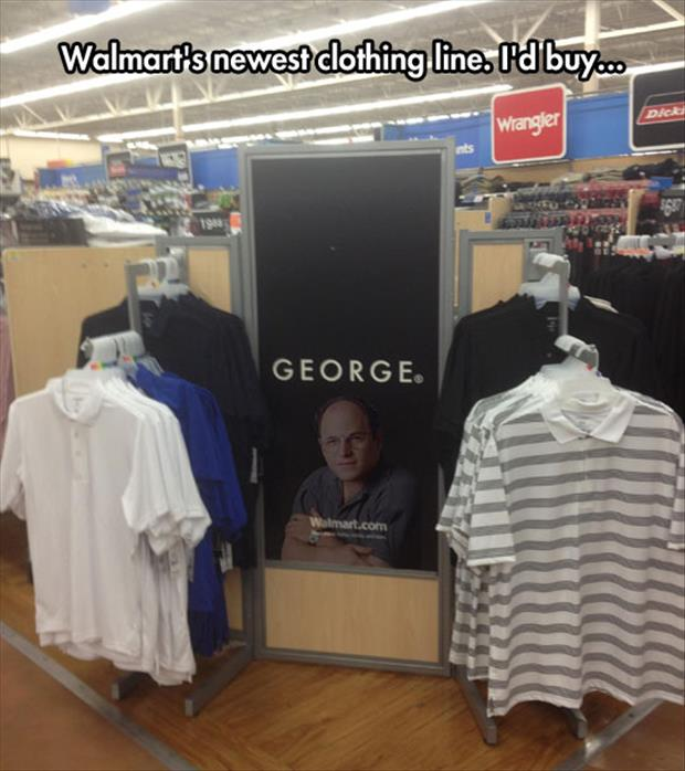 george castansa funny wal mart clothes
